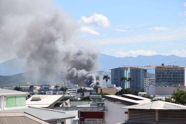 Incendie au centre-ville de Nouméa, 9 août 2018