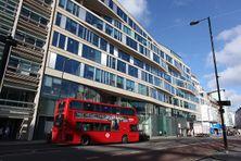 Le London Metal Exchange (LME) dans la City de Londres