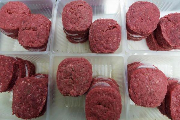 Steaks hachés en barquettes