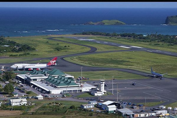 Sainte Lucie aeroport hewanorra