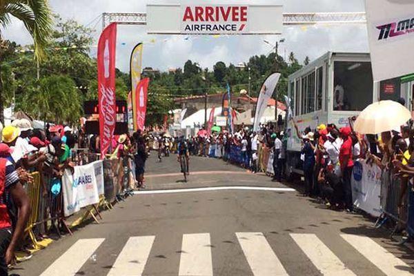 Arrivée 3e étape à Trinité