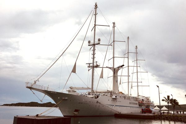 Wind spirit à quai, 29 février 2020