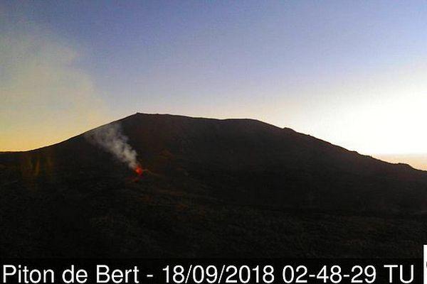 Éruption le 18 septembre 2018
