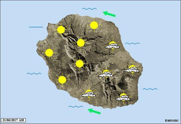 Carte météo 21 juin 2017