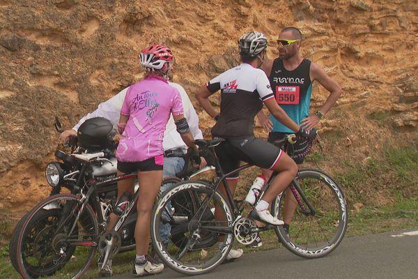 Thomas Prono contraint d'abandonner pour une hanche bloquée à 3 kilomètres de l'arrivée.