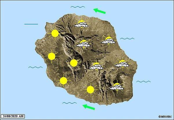 Carte météo 24 août 2020