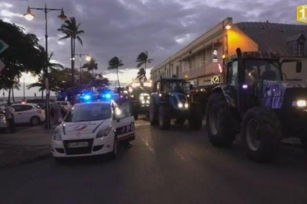 Tracteurs sur le Barachois