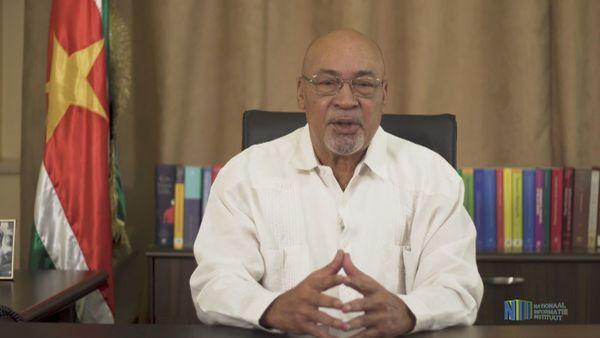 Allocution télévisée du président du Suriname