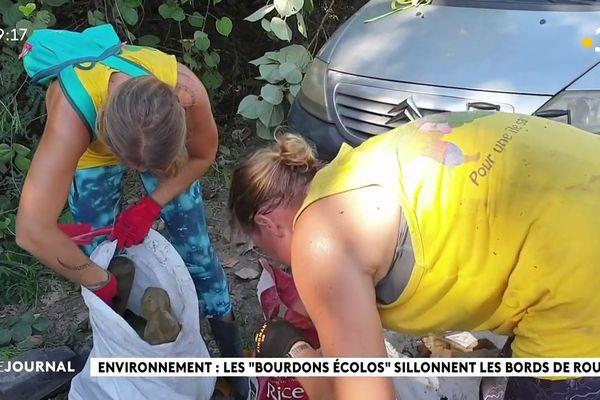 Des bénévoles s'attèlent à la dépollution de l'ancien dépotoir de Moorea