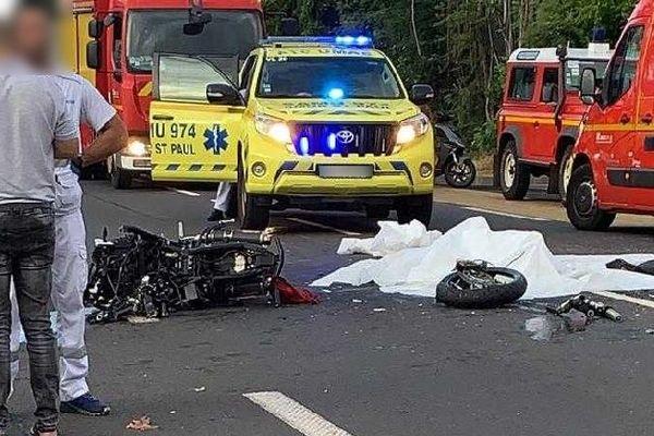 Accident mortel de La Possession 27 02 2020 un motard DCD