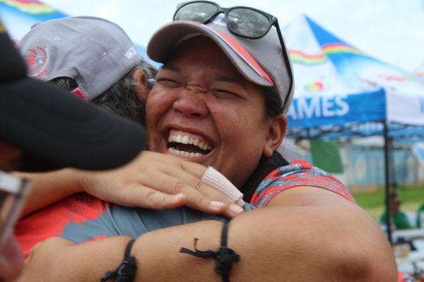 Mini Jeux du Pacifique : tournoi mixte de tir à l'arc classique victoire Soero Moedjijo (13 décembre 2017)