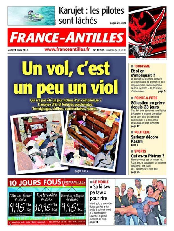 Une France Antilles Guadeloupe 21 mars