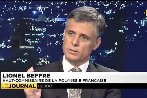 Lionnel Beffre, Haut-Commissaire de la Polynésie Française, invité du journal