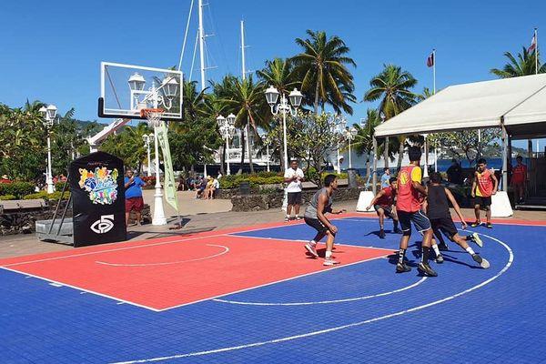 Basket-ball : tournoi 3x3 place Vaiete