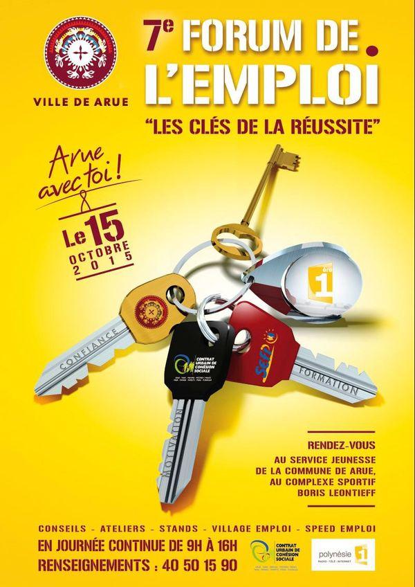 """7è forum de l'emploi à Arue """"Les clés de la réussite"""" jeudi 15 octobre 2015"""