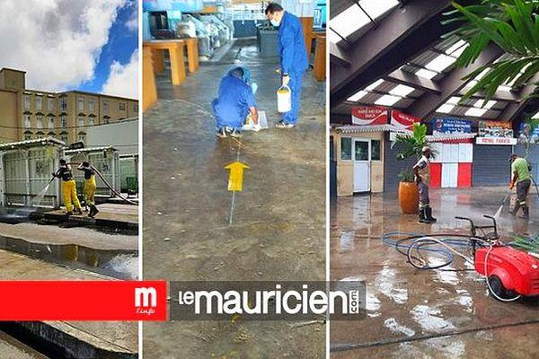 Désinfection à Curepipe île Maurice 24 mars 2021