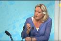 La présidente du Front national Marine Le Pen, etait l'invitée du journal.