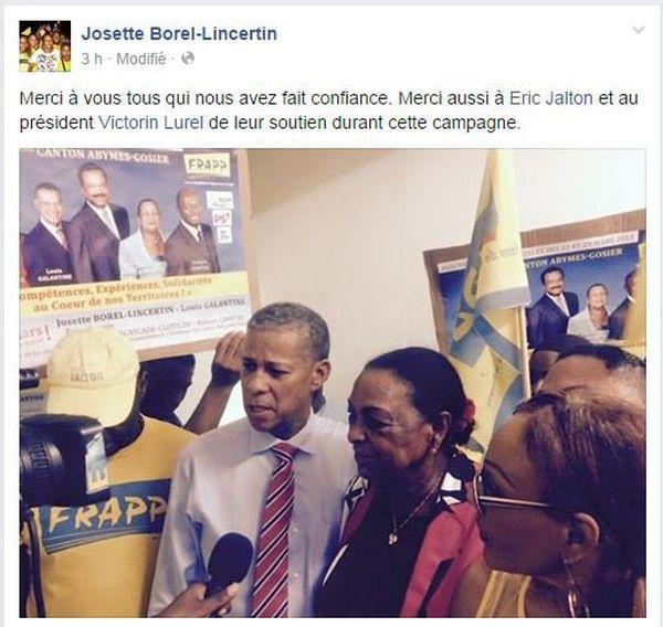 Page facebook de Josette Borel-Lincertin