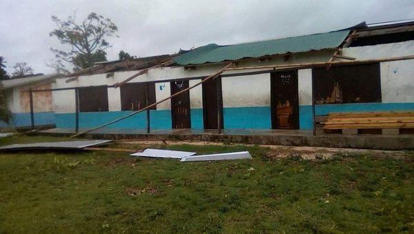 Vanuatu : une école primaire détruite par le cyclone Harold.