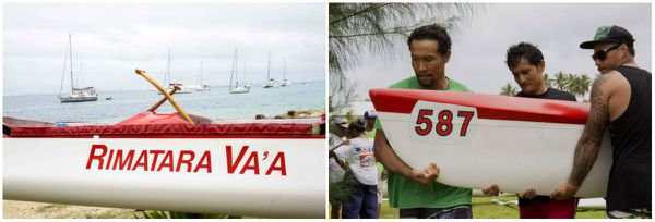 L'équipe de Rimatara va'a à Huahine se prépare. - Hawaiki nui va'a 2015