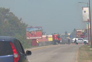 Des feux de broussailles dans la zone de Pariacabo à Kourou