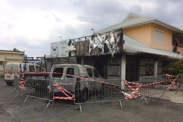 Incendie boucherie Leevy Pouembout