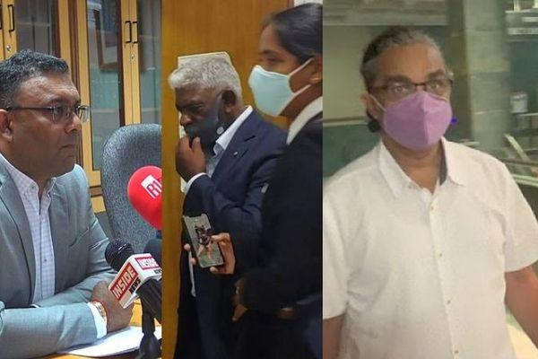 Les trois prévenus devant le tribunal de Port Louis
