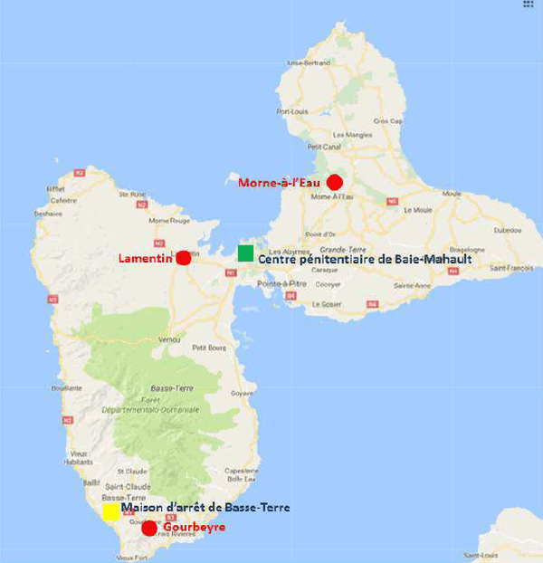 future prison Guadeloupe