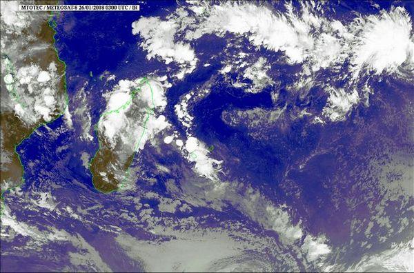 Image satellite du 26 janvier 2018