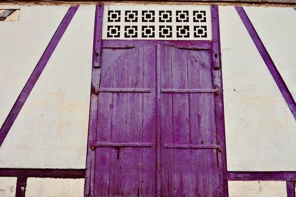 Détail de porte de la maison Aubin-Hitier