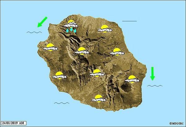 Carte météo du 24 janvier 2019 AM
