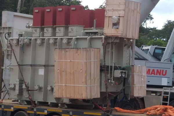 Le transformateur installé au Galion