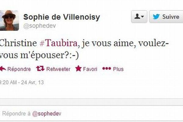 Twitt mariage Taubira