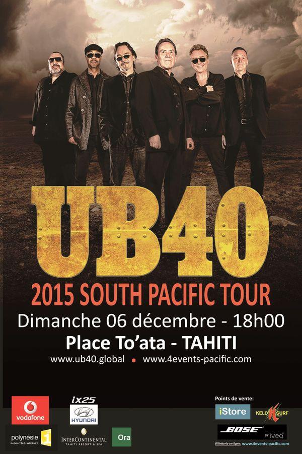 Affiche UB40 en concert à Tahiti