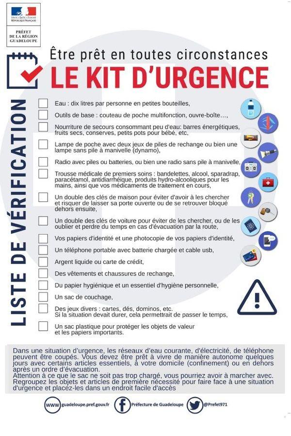 Check-list pour constituer son kit d'urgence