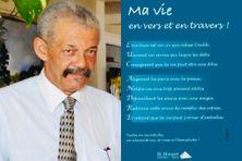 """Luc André, poète spécialiste de l'acrostiche, présente son nouveau recueil - """"Ma vie en vers et en travers""""(édition St.Honoré) - septembre 2021."""
