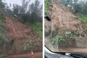 Intempéries : éboulements et routes coupées sur la côte est