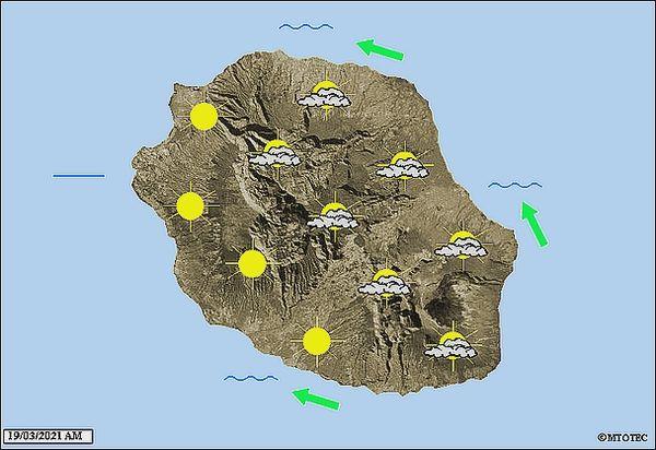 Carte météo 19 mars 2021
