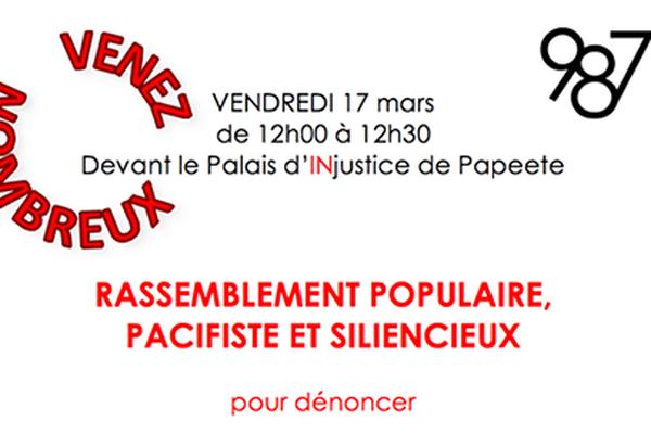 Rassemblement pacifiste et silencieux - association 987