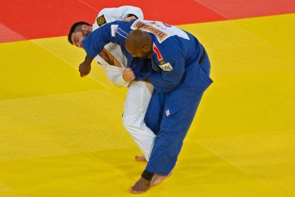 Teddy Riner et l'ukrainien Yakiv Khammo lors du Masters de Doha