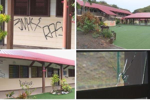 Ecole Païta Scheffleras vandalisée