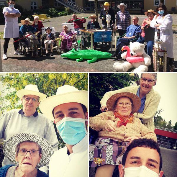 Anthony et ses collègues ont relevé le défi de faire des vidéos parodiques avec les résidents