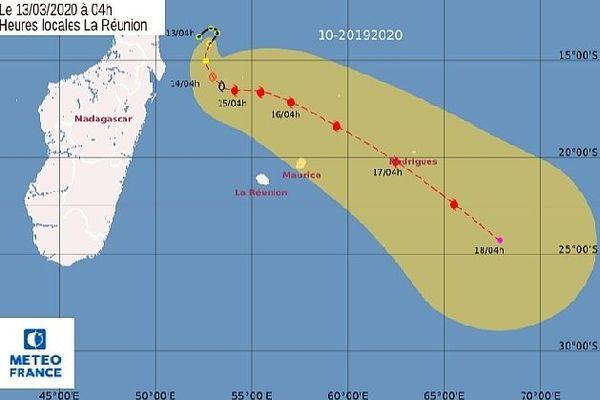 Carte de prévision de trajectoire