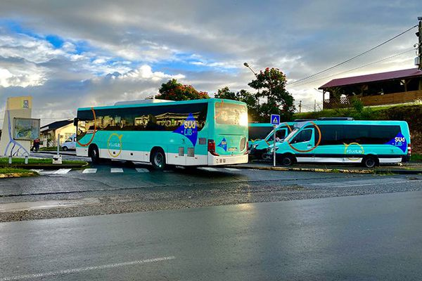 Bus réseau SudLib à la gare