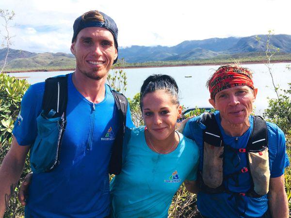Transcal 2018: Yohan Samanich, Angélique Plaire et David Nenci à l'arrivée au deuxième jour