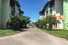 L'entrée de la cité Mont-Lucas à Cayenne