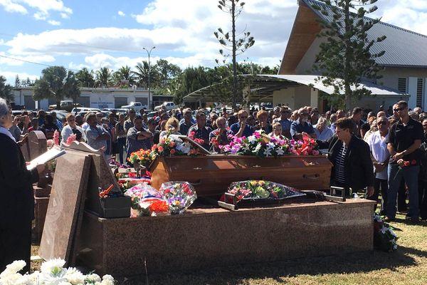 Enterrement de Robert Frouin, ex-maire de Koumac, 21 juin 2018
