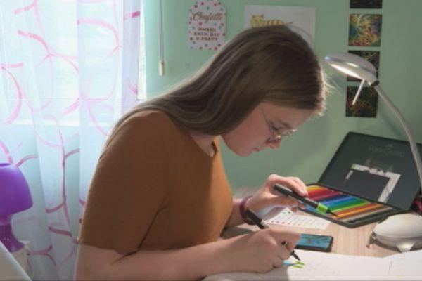 Julie Urdanabia, 12 ans, artiste en herbe à Saint-Pierre