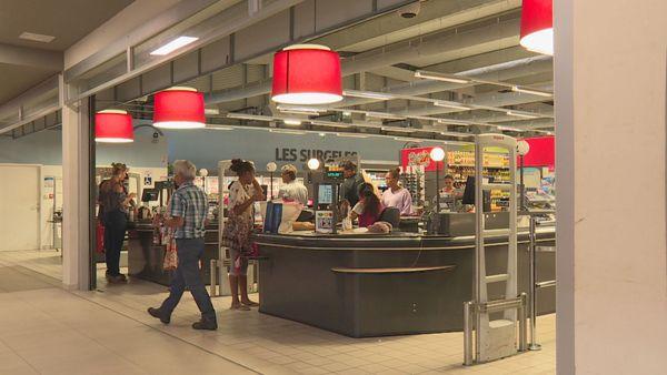 Caisses de supermarché, janvier 2019