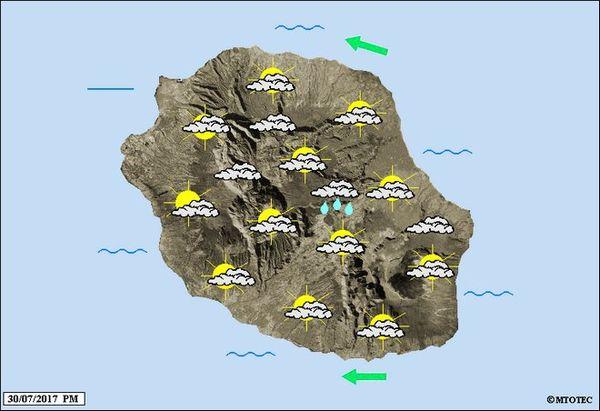 Carte météo du 31 juillet 2017